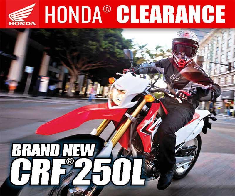 Honda Motorcycle Clearance | Cedar Creek Motorsports